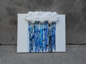 Rain Cloud Crayon Melt